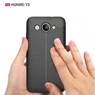 قاب ژله ای طرح چرم Auto focus Case Huawei Y3