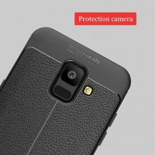 قاب ژله ای طرح چرم Auto focus Case Samsung Galaxy A6 2018