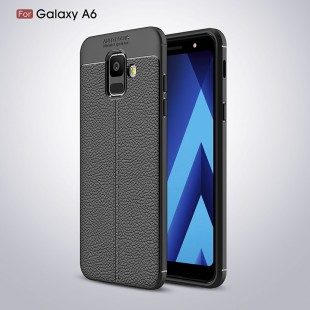قاب ژله ای طرح چرم Auto focus Case Samsung Galaxy A6 Plus 2018