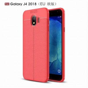 قاب ژله ای طرح چرم Auto Focus Case Samsung Galaxy J4