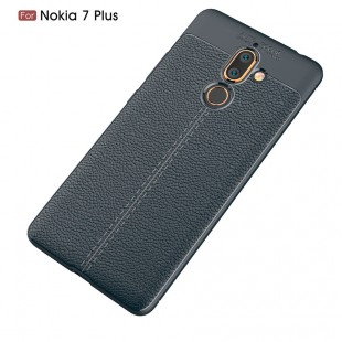 قاب ژله ای طرح چرم Auto Focus Case Nokia Nokia 7 Plus