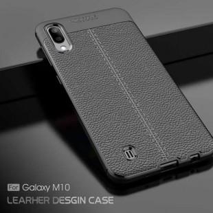 قاب ژله ای طرح چرم Auto Focus Case Samsung Galaxy M20