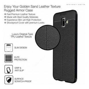 قاب ژله ای طرح چرم Auto Focus Case Samsung Galaxy J6 Plus