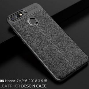 قاب ژله ای طرح چرم Auto Focus Case Huawei Y6 Prime 2018