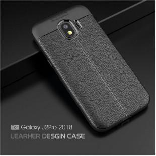 قاب ژله ای طرح چرم Auto Focus Case Samsung Galaxy J2 Core