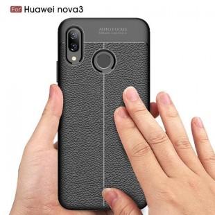قاب ژله ای طرح چرم Auto Focus Case Huawei Nova 3
