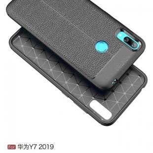 قاب ژله ای طرح چرم Auto Focus Case Huawei Y7 2019