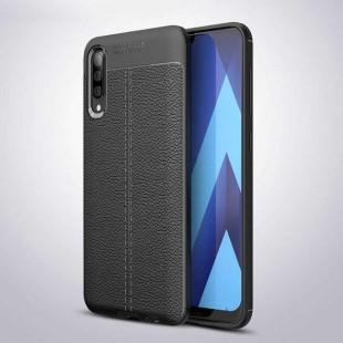 قاب ژله ای طرح چرم Auto Focus Case Samsung Galaxy A70