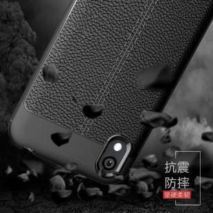 قاب ژله ای طرح چرم هواوی Auto Focus Case Huawei Y5 2019