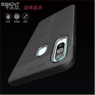 قاب ژله ای طرح چرم سامسونگ Auto Focus Case Samsung Galaxy A60