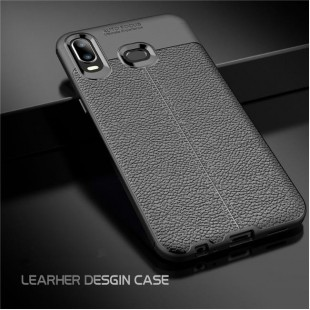 قاب ژله ای طرح چرم سامسونگ Auto Focus Case Samsung Galaxy A6s