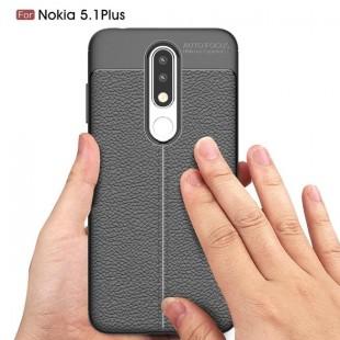 قاب ژله ای طرح چرم نوکیا Auto Focus Case Nokia 5.1 Plus