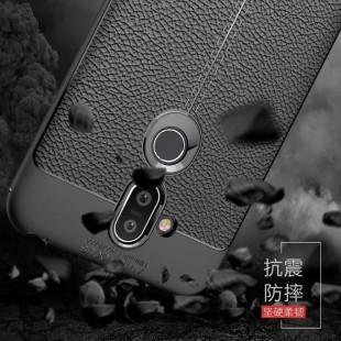 قاب ژله ای طرح چرم نوکیا Auto Focus Case Nokia 8.1