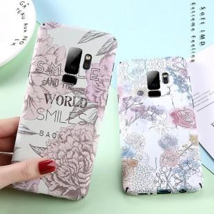 قاب ژله ای طرح گل سامسونگ Flower TPU Case Samsung Galaxy S9 Plus