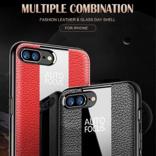قاب چرمی آینه ای آیفون Leather Mirror Apple iPhone 7 Plus