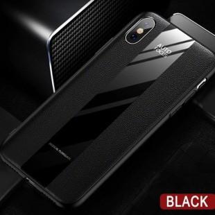 قاب چرمی آینه ای آیفون Leather Mirror Apple iPhone X/Xs