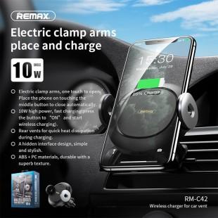 هولدر موبایل و شارژر وایرلس ریمکس مدل Remax RM-C42