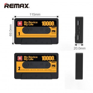 پاوربانک 10000 میلی آمپر طرح نوار کاست ریمکس مدل Remax RPP-12