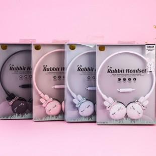 هدفون بلوتوث طرح خرگوش با گوش های پاپیونی