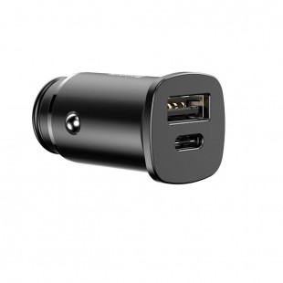 شارژر فندکی بیسوس مدل Baseus Mini Fast Car Charger PD 3.0 QC 4.0 USB Type-C Ports 30w Fast Charger