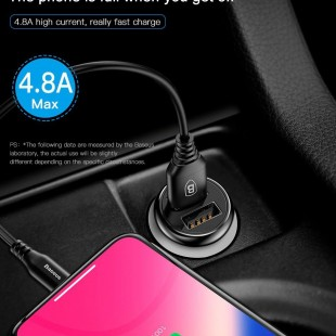 شارژر فندکی بیسوس مدل Baseus Gentleman 4.8A Dual-USB Car Charger