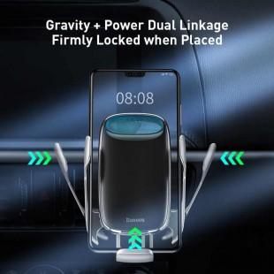 هولدر موبایل و شارژر وایرلس بیسوس مدل Baseus Milky Way Electric Bracket Wireless Charger 15W