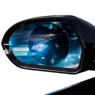 برچسب فویل اتومبیل ضد مه محافظ آینه Baseus 2 Pcs Car Rearview Mirror Rainproof Film 0.15mm Clear Mirror Anti Fog