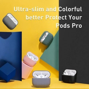 هندزفری بلوتوث بیسوس مدل Baseus Shell pattern Silica Gel Case For Pods Pro WIAPPOD-BK01