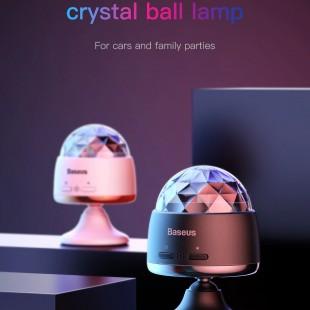 رقص نور کریستالی اتومبیل بیسوس مدل  Baseus Car Crystal Magic Ball Light ACMQD-01
