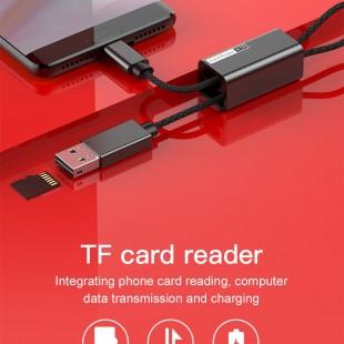 کارت خوان و OTG بیسوس مدل Baseus hanging up card reader acdkq-hg01