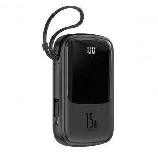 پاوربانک 10000 میلی آمپر بیسوس با کابل تایپ سی مدل Baseus Q pow Digital Display 3A Power Bank 10000mAh With Type-C Cable PPQD-A01