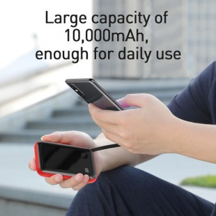 پاوربانک 10000 میلی آمپر بیسوس مدل Baseus  Small square strip digital display 3A mobile power supply 10000mAh