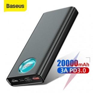 پاوربانک 20000 میلی آمپر فست شارژ بیسوس مدل Baseus Amblight PD3.0 20000mAh PPALL-LG01