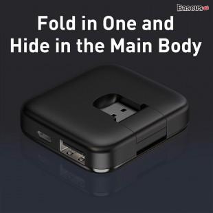 هاب آداپتور چهار خروجی بیسوس مدل Baseus Fully folded portable 4-in-1 USB HUB CAHUB-CW01