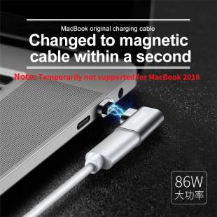مبدل مگنتی تایپ سی بیسوس مدل Baseus mini magnetic type-c elbow adapter converter CATCX-0G
