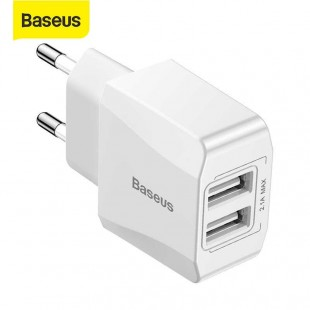 آداپتور Baseus Mini Dual-U Charger Adaptor Cable Adaptor