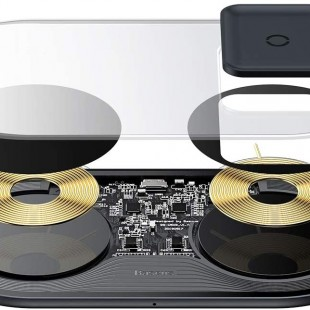 شارژر وایرلس بیسوس مدل Baseus 2in1 Wireless Charger Pro Edition For Phones+Pod WXJK-C01