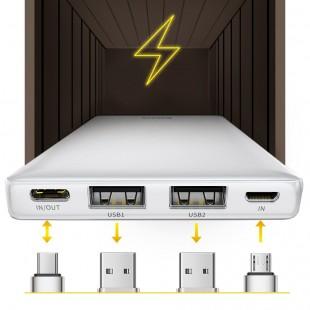 پاوربانک 20000 میلی آمپر فست شارژ بیسوس مدل Baseus mini ja fast charge power bank 3A 20000mAh PPJAN-B01