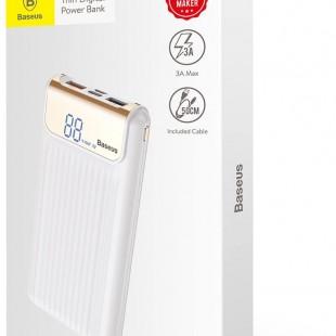 پاور بانک 10000 میلی آمپر با صفحه نمایش دیجیتال بیسوس مدل Baseus thin qc3.0 m+t daul input digital display power bank 10000mAh PPYZ-C01