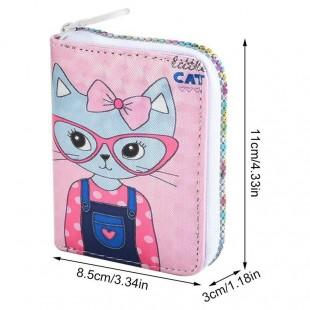 کیف پول مینی براق طرح  گربه و یونیکورن
