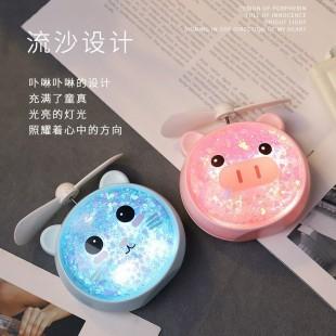 پنکه و چراغ خواب شارژی قابل حمل طرح خوک و گربه