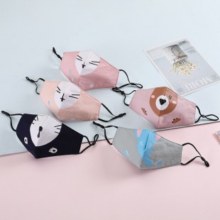 ماسک پارچه ای طرح حیوانات