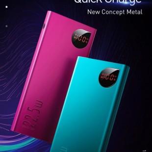 پاوربانک 10000 میلی آمپر بیسوس مدل Baseus Adaman Metal Digital Display Quick Charge Power Bank 22.5W 10000mAh PPIMDA-B06