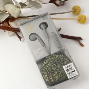 هندزفری با سیم به همراه کیف طرح کتان مدل DiiD ED-1011