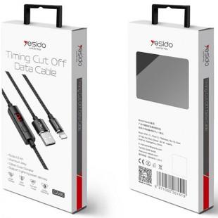 کابل میکرو قطع کن تایمر دار یسیدو Yesido CA-46 Micro USB cable displayed timing power off
