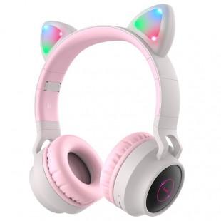 هدفون گربه ای بی سیم هوکو Hoco W27 cat ear wireless headphones