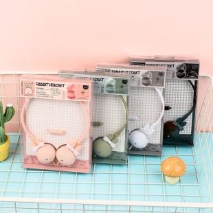 هدفون فانتزی خرگوش پاپیونی Cute rabbit-shaped wired headphone