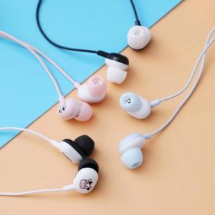 هندزفری فانتزی با طرح گاو Happy cow design wired earphone