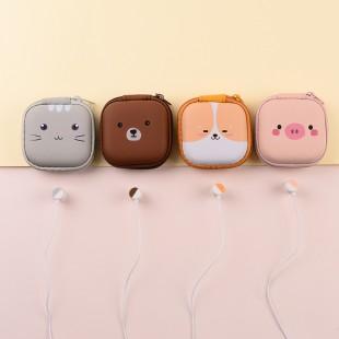 هندزفری فانتزی طرح حیوانات کارتونی ایرسیر Earsir E-207 cartoon animal park wired earphone with storage bag