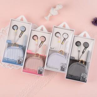 هندزفری فانتزی همراه با کیف نگهدارنده ایرسیر Earsir E-203 wired earphones with mini storage bag